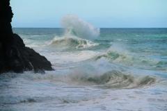 Napali Coast, Kauai Ocean Waves Crashing
