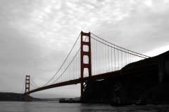 Golden Gate Bridge Art Color Splash