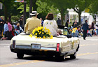 Daffodil Parade Car & Daffodils digital painting