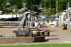 Couple on Dock in Gig Harbor digital painting