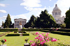 Capitol Building, Garden, and Statue digital painting