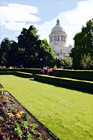 Capitol Building & Green Grass Garden digital painting