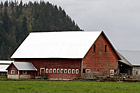 Red Barn on Farm photo thumbnail